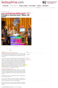 Article le Dauphiné salon 3DPRINT